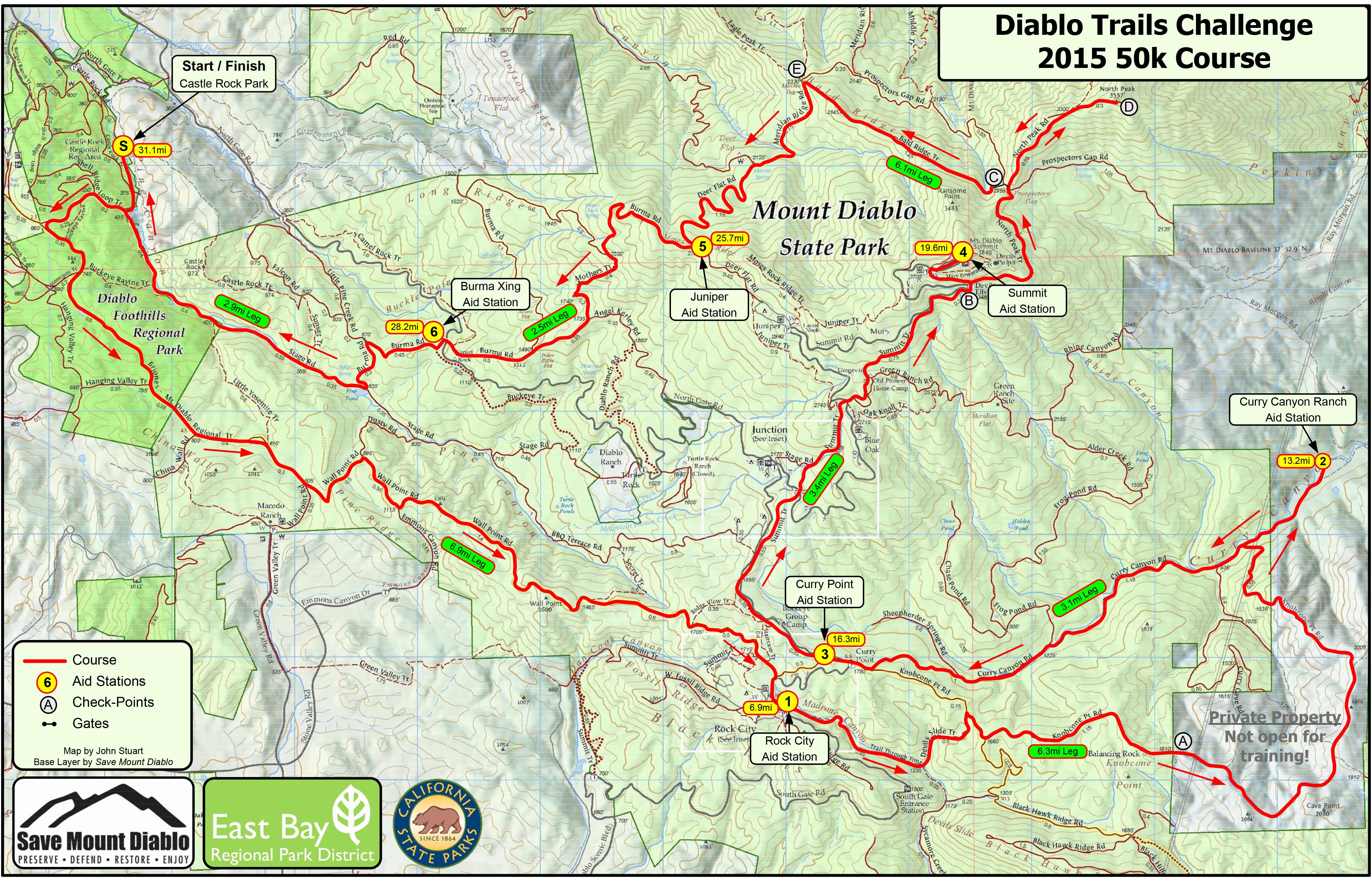 Race Info Diablo Trails Challenge - Visio continental us map