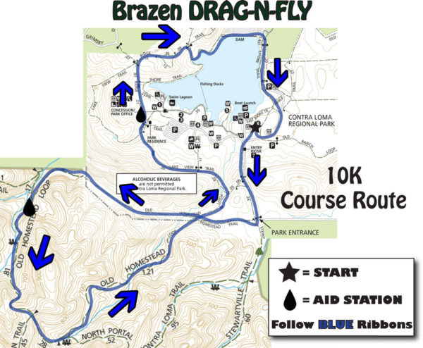 Drag-N-Fly-10K-Course-Map